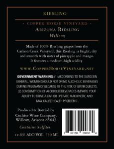 Arizona Riesling Willcox