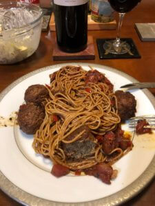 Meat Balls and Pasta