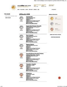 Medals from USA Wine Ratings