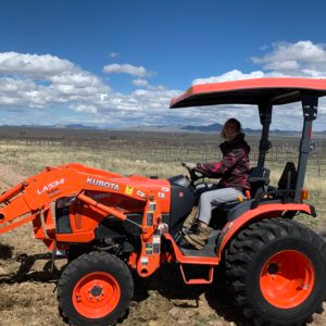 Kaylee on Tractor