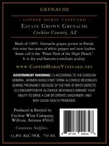 Arizona Grenache 2018