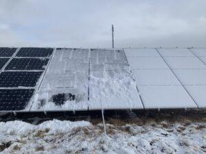 Snow and Solar Panels