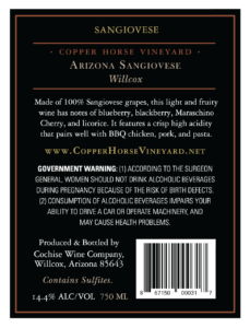 Arizona Sangiovese 2017